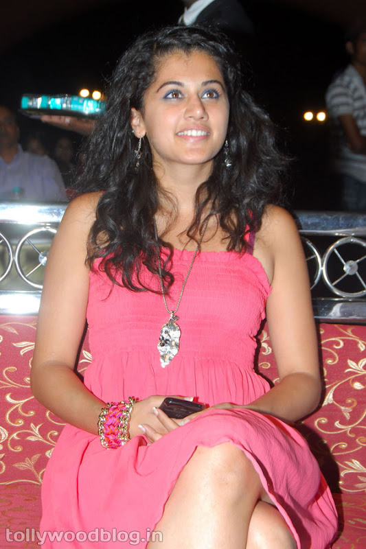 Tapsee Ponnu Hot Photo in Pink Dress hot photos