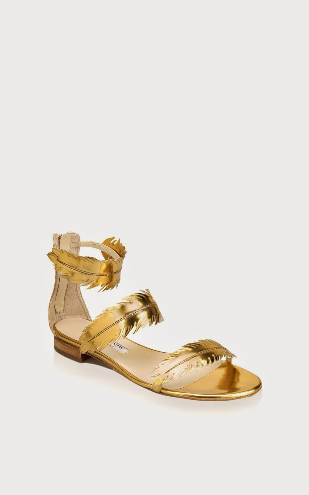 Abigail gold feather sandal!