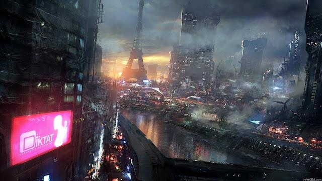paris cyberpunk ville city