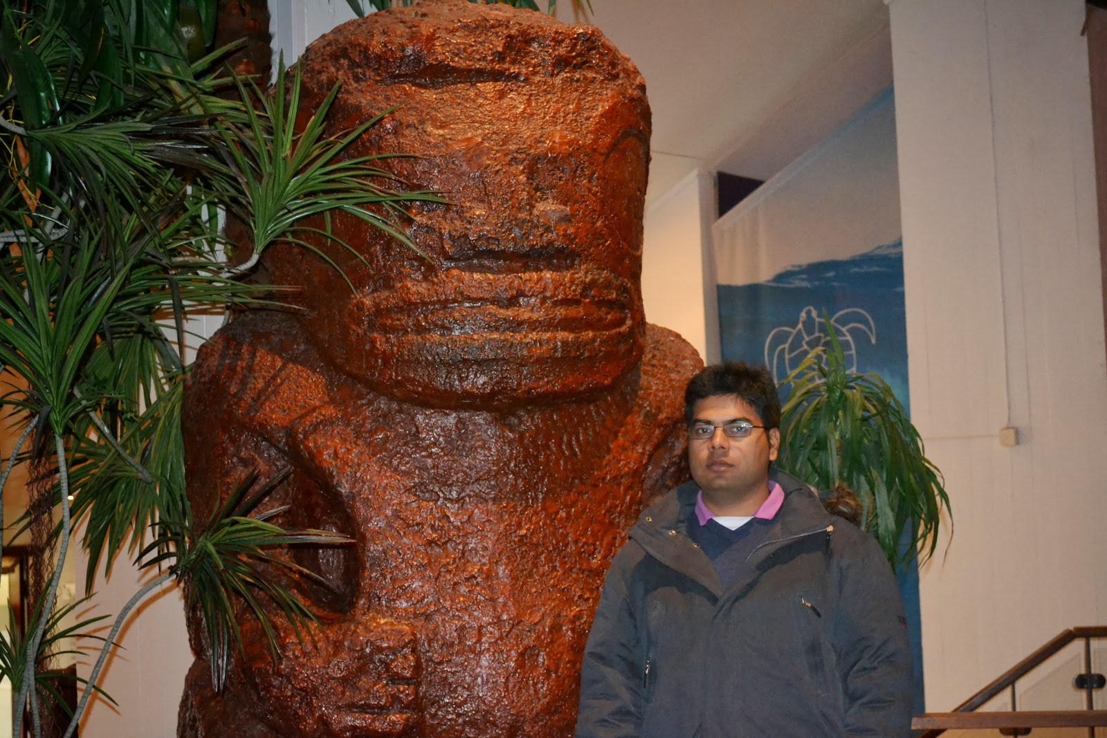 Me with the Statue  in museum