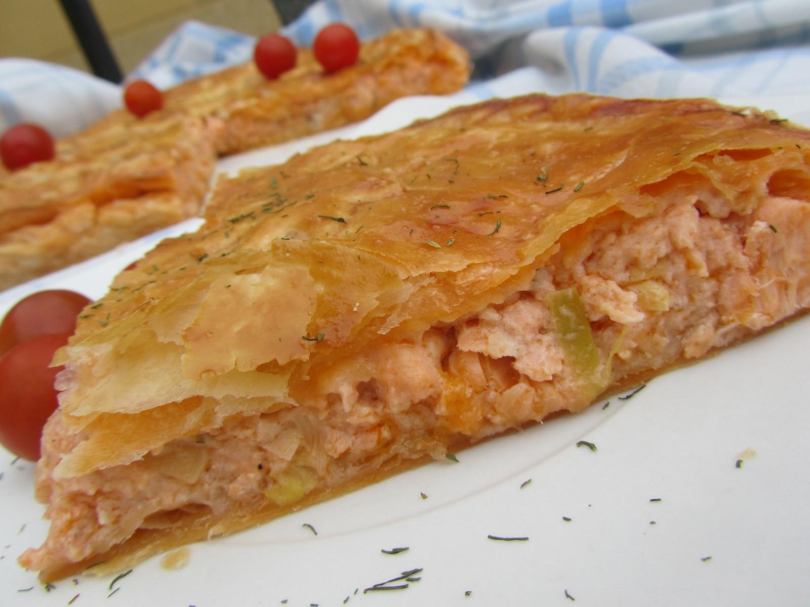 Blog con recetas sencillas r pidas y econ micas de - Hojaldre de puerros y gambas ...