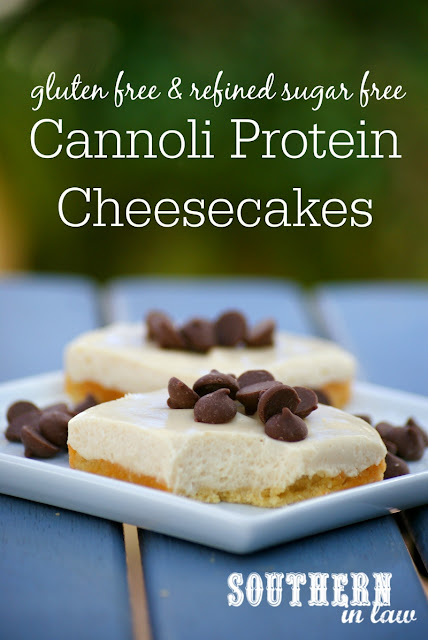 Healthy Cannoli Protein Cheesecake Recipe - low fat, gluten free, high protein, refined sugar free, low carb, grain free, clean eating friendly, healthy