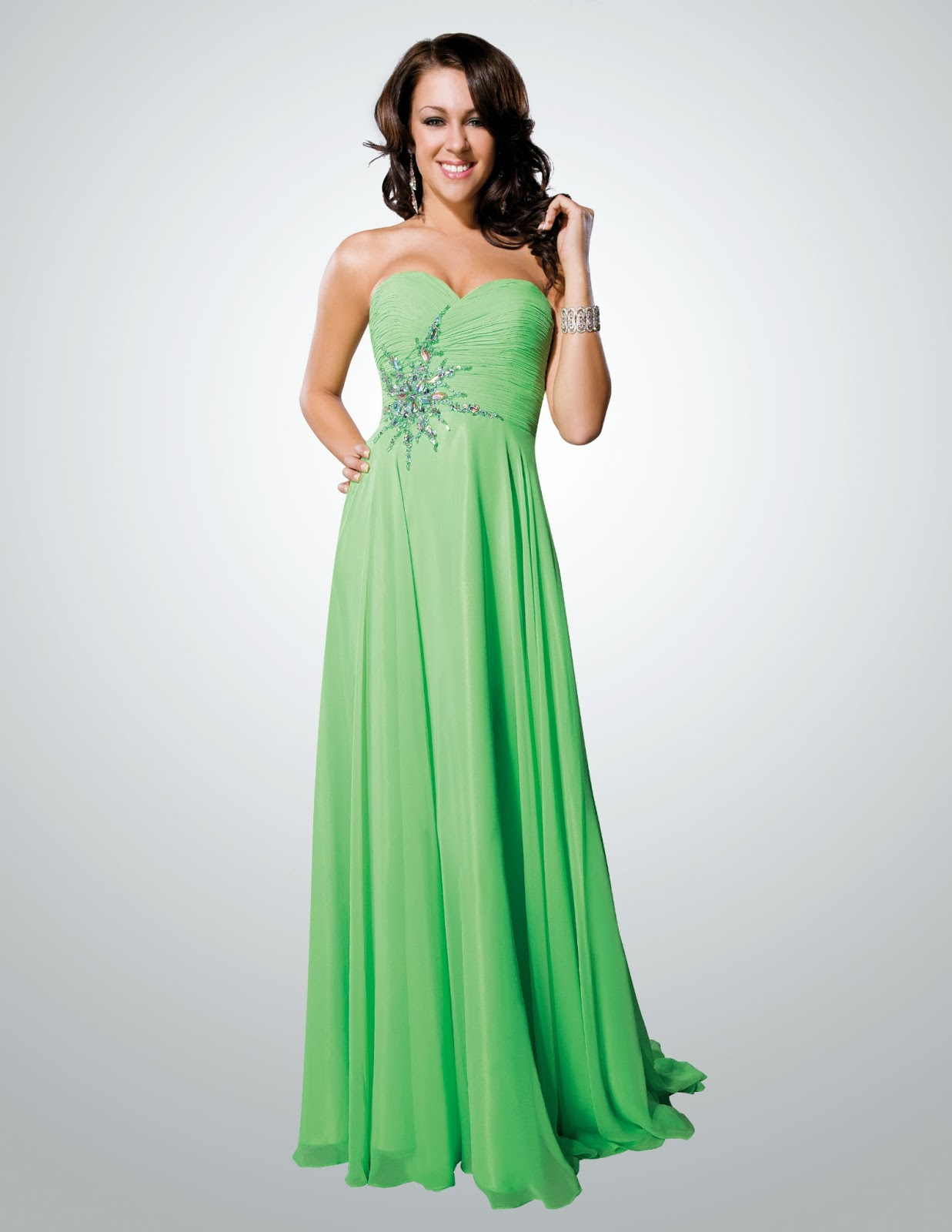 Emerald Green Prom Dress 2013