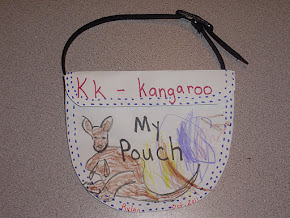 K is for Kangaroo / The finished pouch.