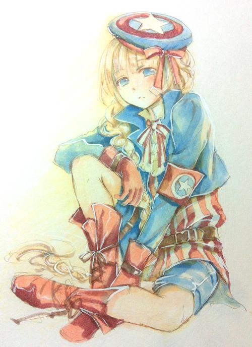 captain america por kamuikaoru