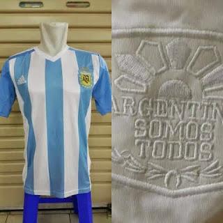 jual online baju bola Timnas Argentina home terbaru musim 2015/2016 kualitas grade ori made in Thailadn
