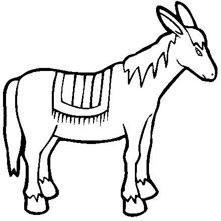 19 farm animal printable donkey coloring sheet for Nativity animals coloring pages