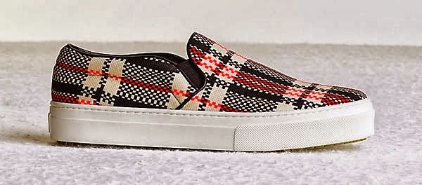 plaid slip on sneakers, tartan print slip on sneakers, trend 2014,