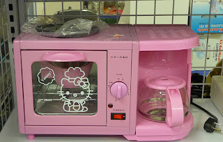 Hello Kitty kitchen oven and coffee maker