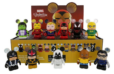 "Marvel Vinylmation Series 3 by Disney - ""Classic Armor"" Iron Man, Ultimate Spider-Man Miles Morales, Daredevil, Captain Marvel, Luke Cage, Iron Fist, Moon Knight, She-Hulk, Black Bolt, Winter Soldier & Nova"