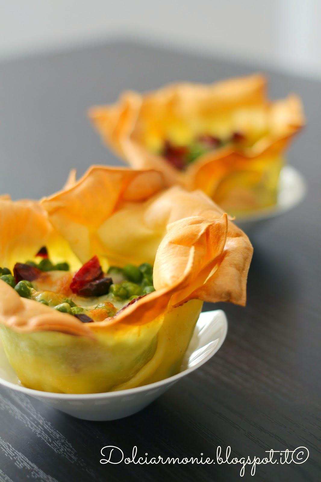 roselline di lasagna ai piselli, ciliegino secco e pecorino siciliano.