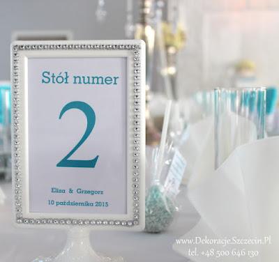 spersonalizowane numerki na stoły