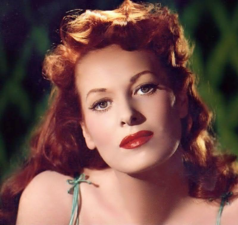 Maureen O'hara via Lexi DeRock of Voluptuous Vintage Vixen Blog