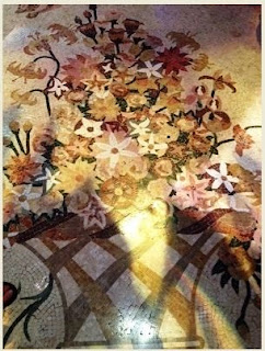 Mosaic floral bouquet.