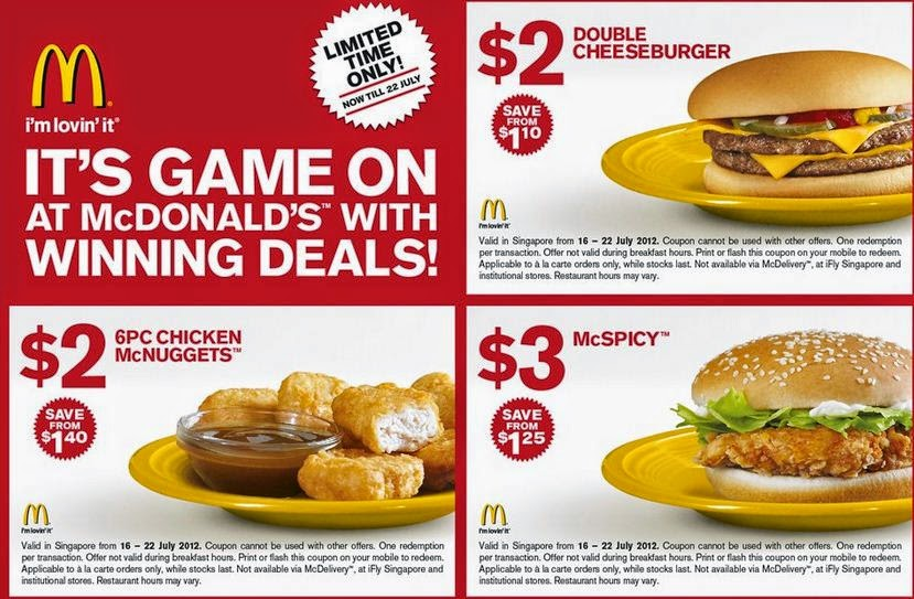 Mcdonalds Printable Coupons March 2015