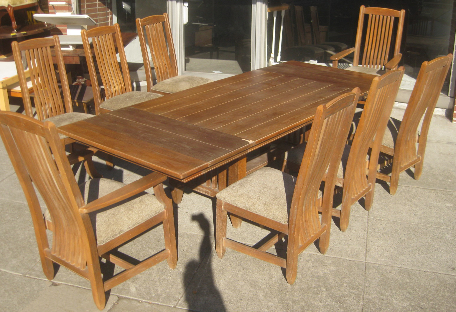 UHURU FURNITURE & COLLECTIBLES: SOLD - Ethan Allen Dining Table ...