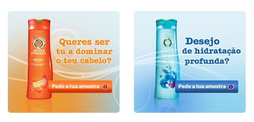 Amostra Gratis Shampoo Herbal Essence