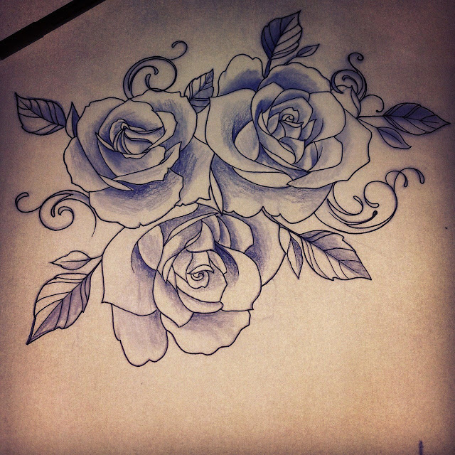 Rose Drawing Tattoo