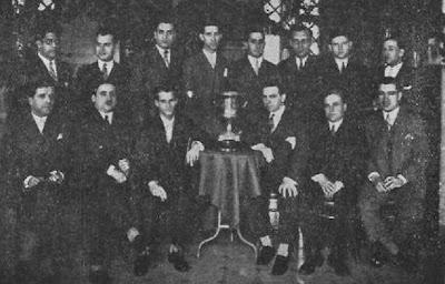 Equipo del Club Ajedrez Ruy López-Tívoli de Barcelona en 1930