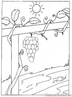 Gambar Hitam Putih Buah Anggur Untuk Diwarnai
