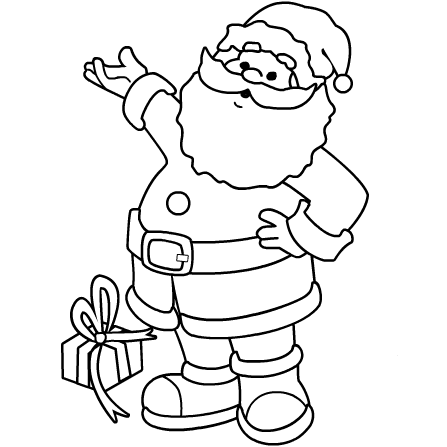 6 Coloring Pages Of Santa Claus For Kids