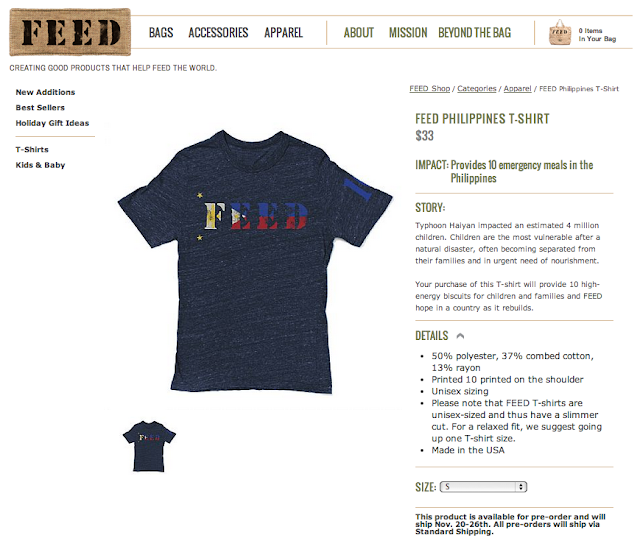 FEED Philippines T-Shirt : www.feedprojects.com