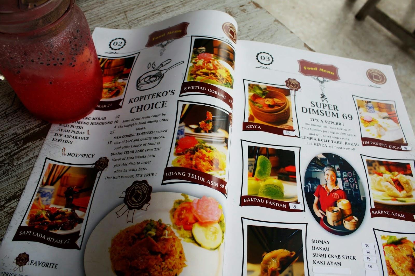 Tempat wisata dan kuliner terbaru kopi teko malang for Felix fish camp menu