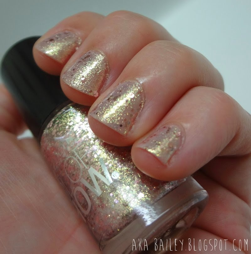 Rose Gold Nail Glitter: Aka Bailey: Rose Gold Glitter Nails