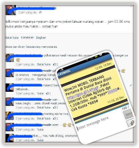 SMS Telkomsel Yang Mengganggu