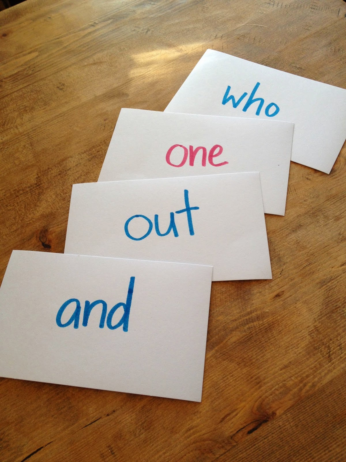 teaching sight words to kids pre-schoolers index cards