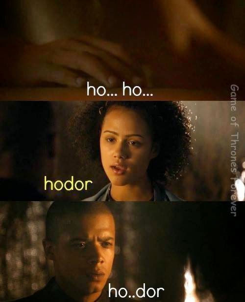 #GameOfThrones Teaching How To Speak Hodor Meme #Season4