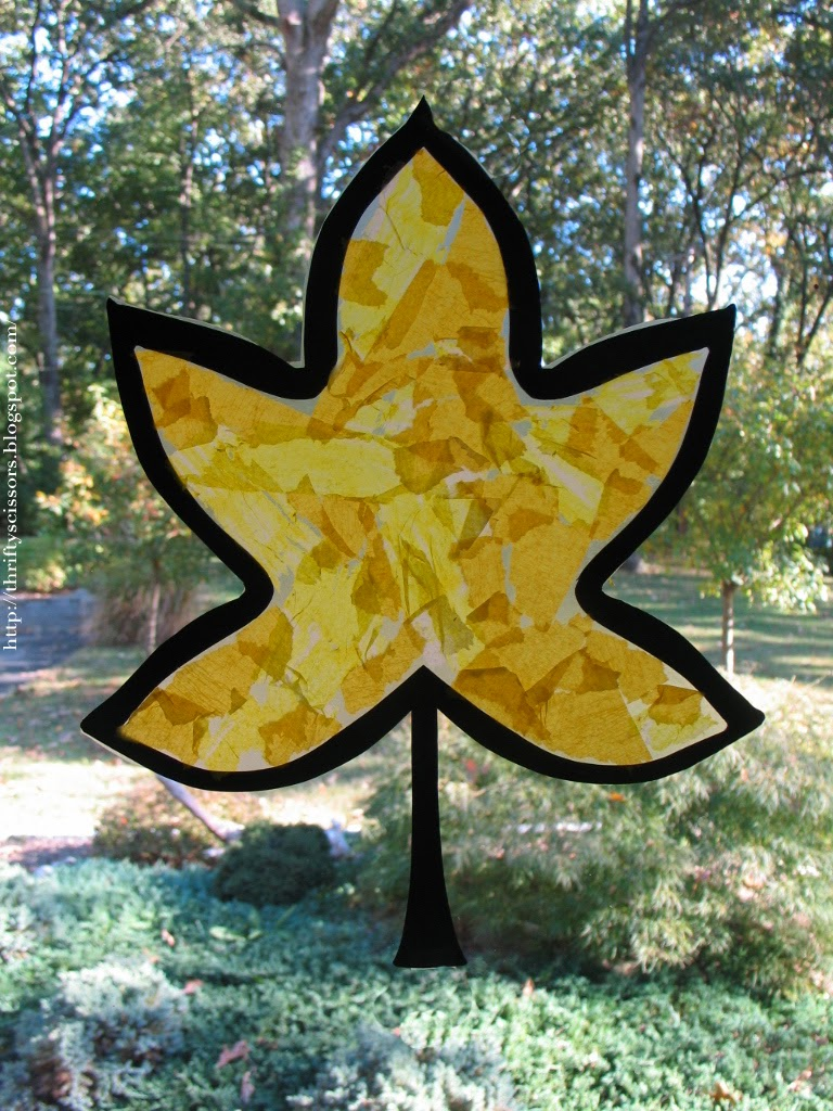 a fall leaf craft for two and three year olds thrifty