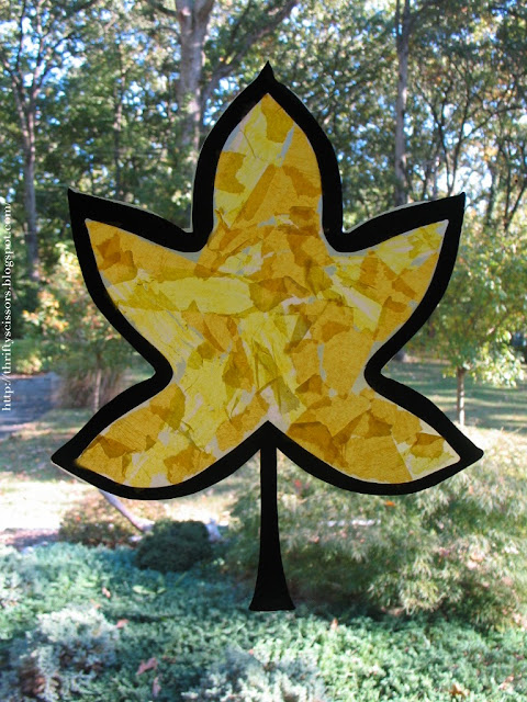 A fall leaf craft for two and three year olds thrifty for Arts and crafts for a 1 year old