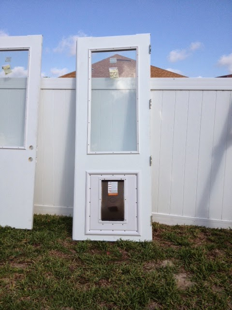 "three quarters french door with ""cat"" door from New South Window in Orlando/Tampa"