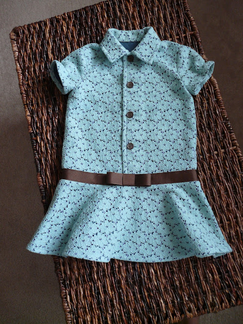 childrens cotton lace dress