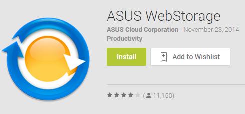 Asus WebStorage Latest Cloud Services App