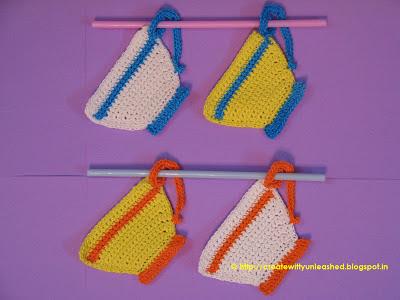 Crochet teacups
