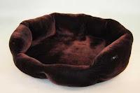 Luxusný pelech - zamatový hnedý