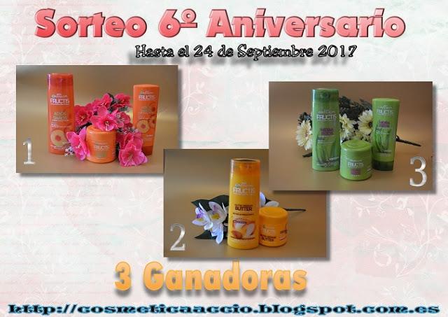 ¡5º SORTEO del 6º Aniversario del Blog: Garnier – 3 Ganadores!