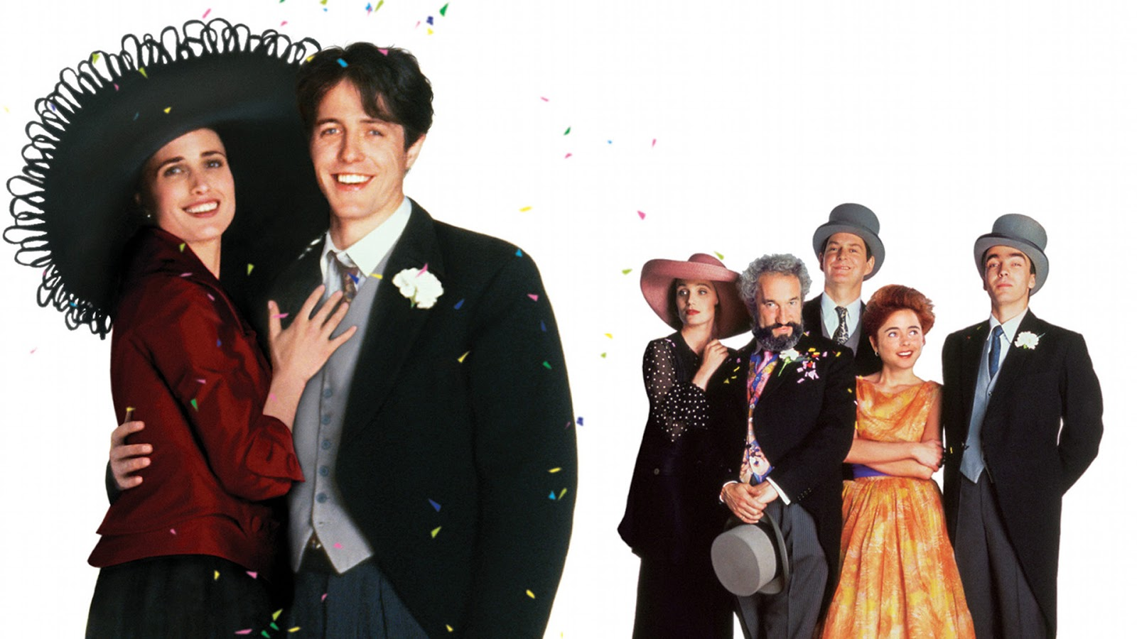 The Main Cast Of Four Weddings And A Funeral