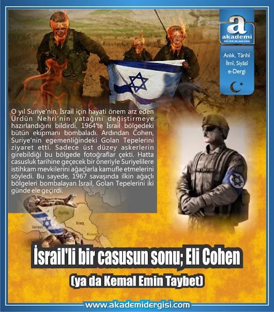 İsrail'li bir casusun sonu; Eli Cohen (ya da Kemal Emin Taybet)