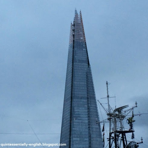 The Shard from the RIver Thames - London, England