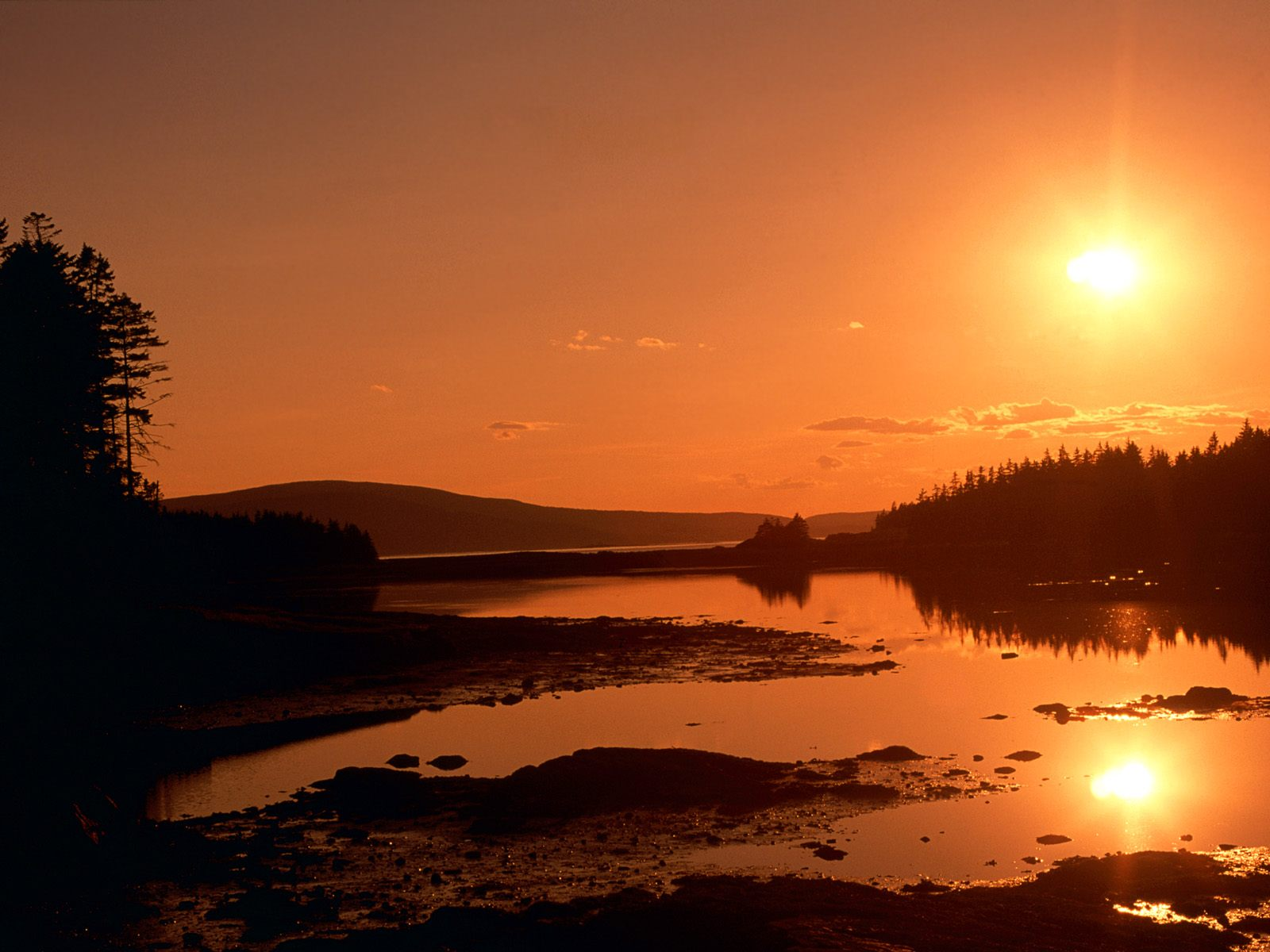 Schoodic Point Maine high quality wallpaper