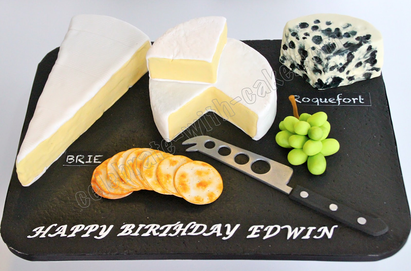Celebrate with Cake Cheese Board Cake