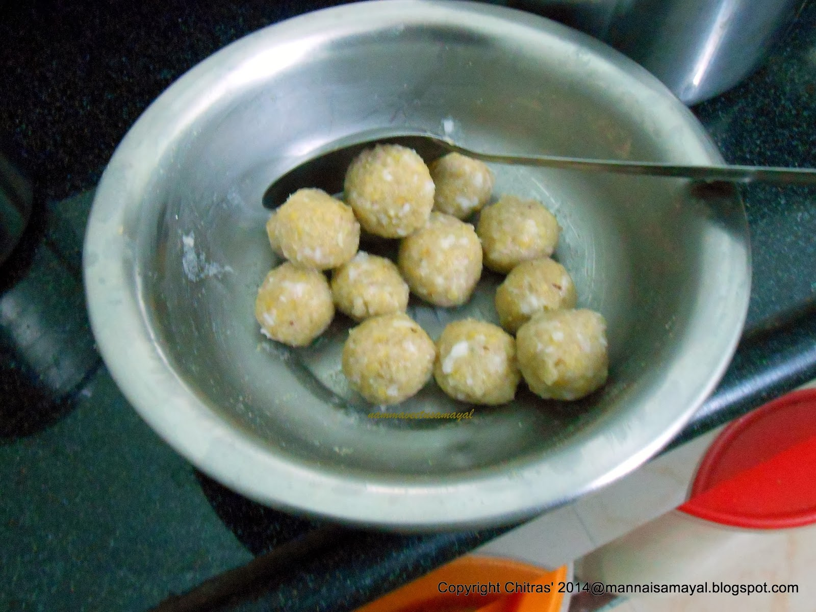 Amaranth Corn Neer Kozhukattai [ Amaranth Corn Dumpling ]