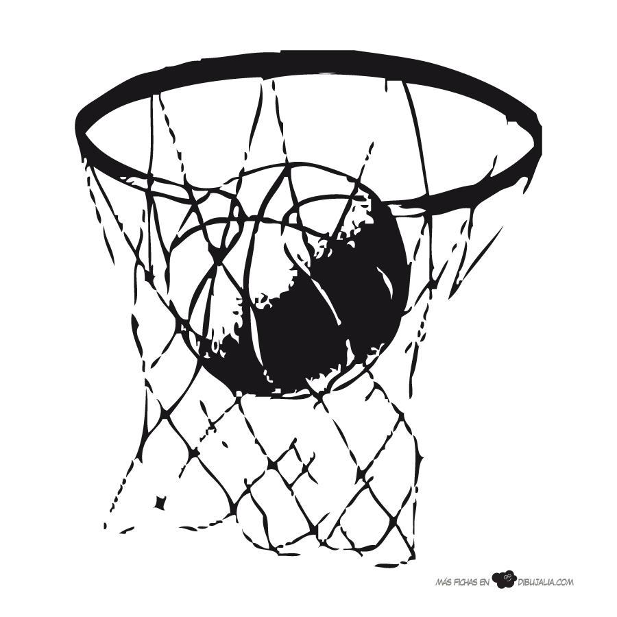 Increíble Dibujos Para Colorear De Baloncesto Infantiles