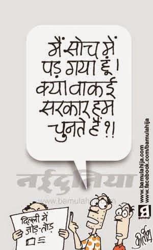 Delhi election, voter, cartoons on politics, indian political cartoon