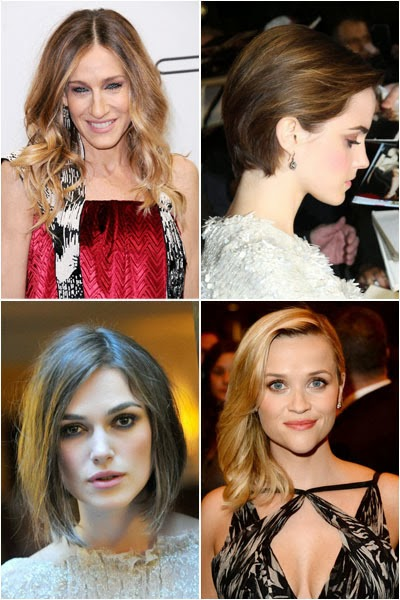 Celebrity hair styles can be imitated according to face shape
