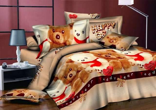 Foto desain kamar anak remaja tema teddy bear