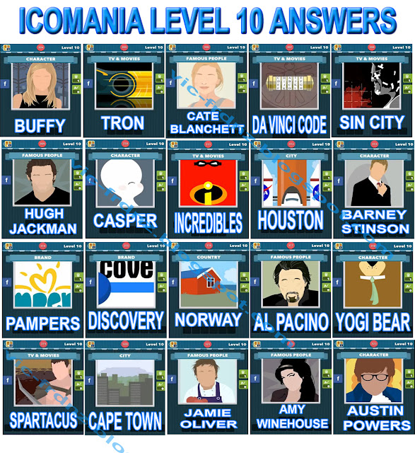 Icomania Level 10 Answers